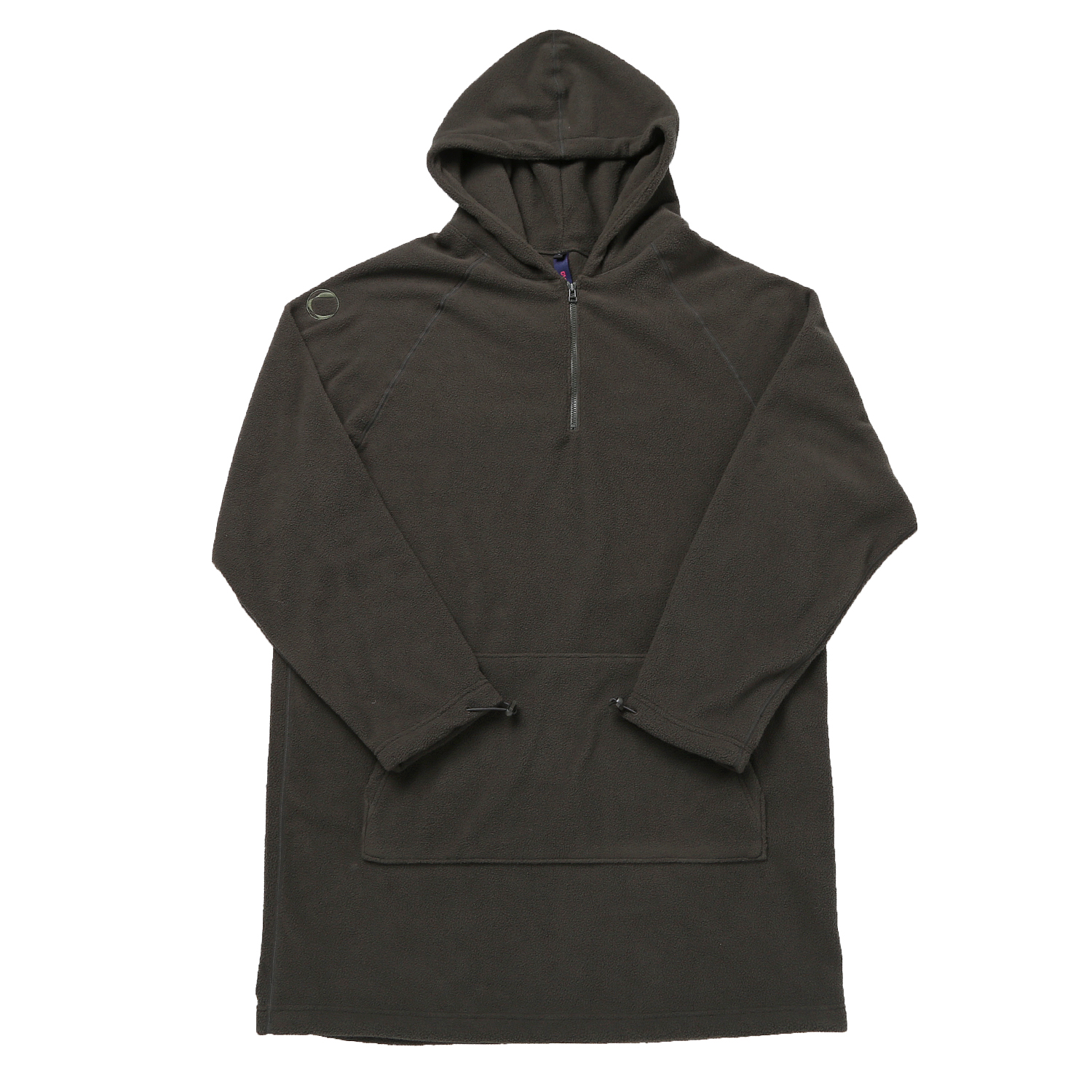 FLEECE LONG HOODY DARK OLIVE