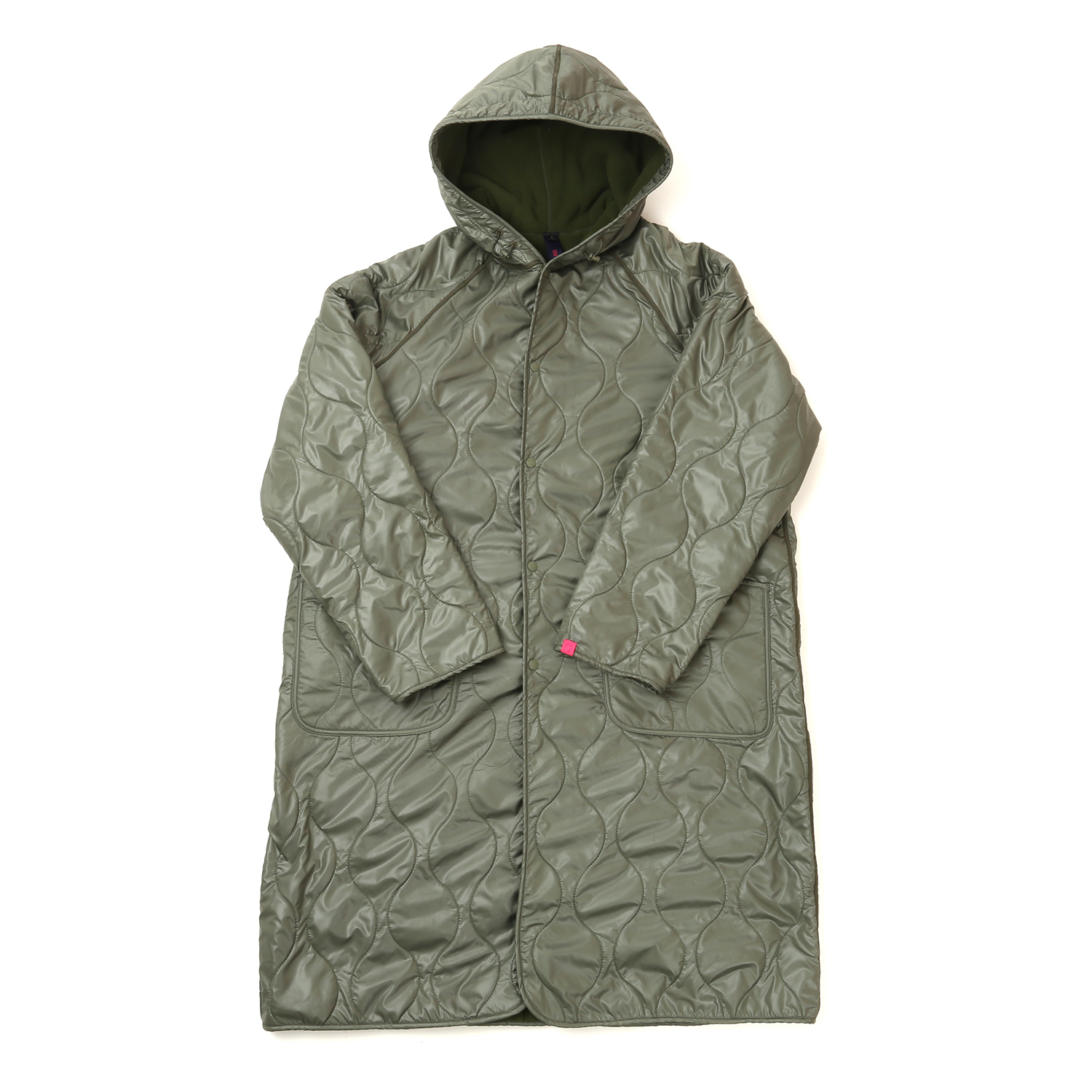 HOODED COAT OLIVE