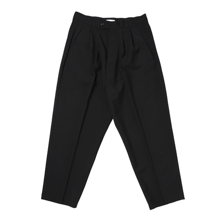 ORO DOUBLE PLEATED WIDE TROUSER BLACK