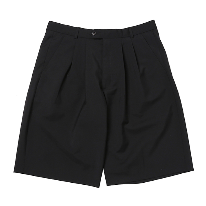 IVER PLEATED SHORTS BLACK