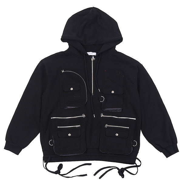PKT ZIP-UP BLACK U5FTI6JP001-BK