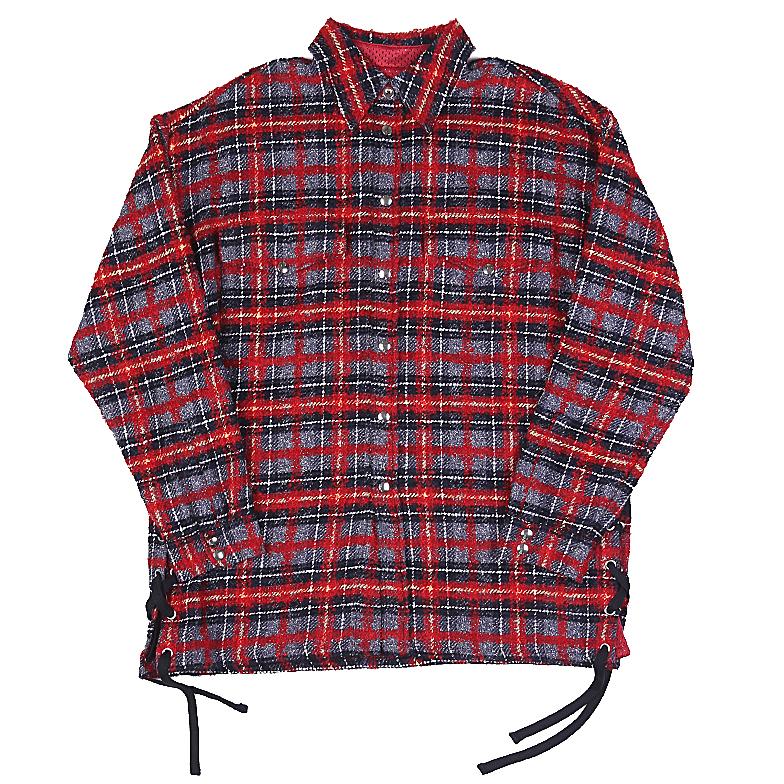LACED TWEED OVERSHIRT RED U5FXI6ST001-RD