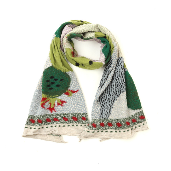 COMPRESSED WOOL SCARF CACTUS Z4KPI6SF006-GN