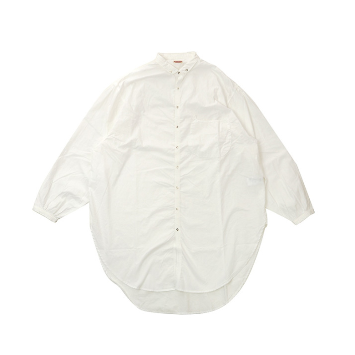 BOARD CLOTH BUTTON DOWN GIANT SHIRT Z4KPI6ST013-WH