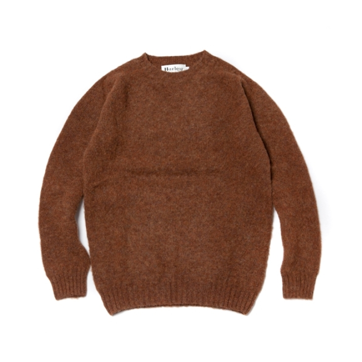 SHAGGY DOG CREW NECK SWEATER PECAN X6HSI6KT001-BR