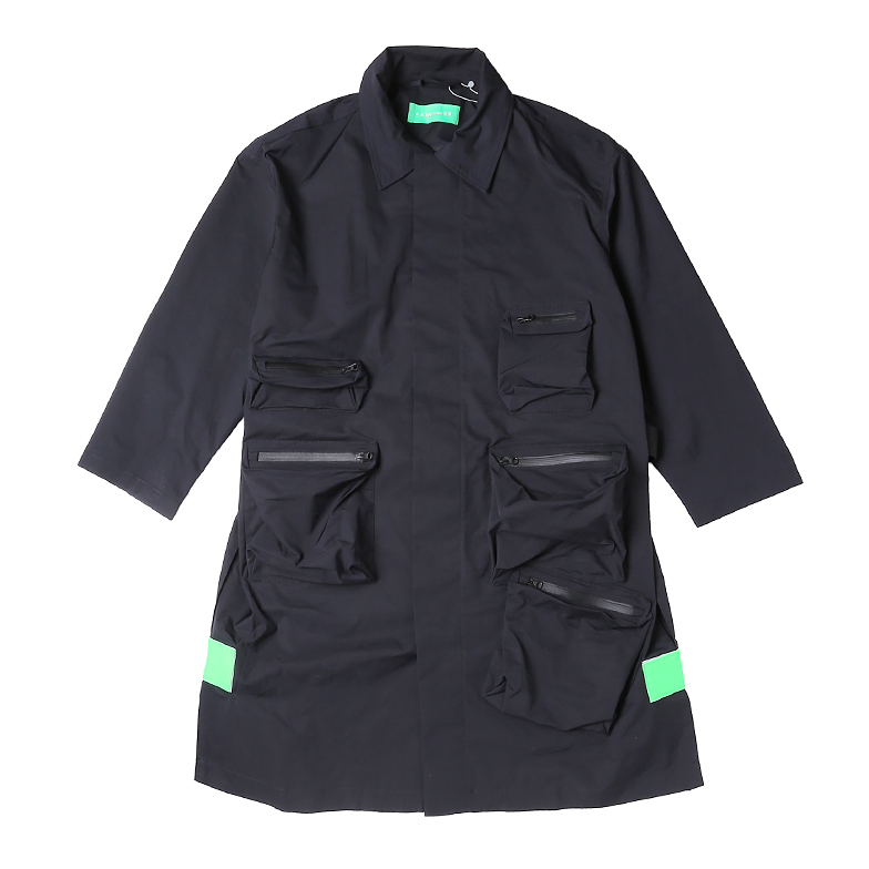 QUIET SPACE COAT BLACK U5PMI6CT001-BK