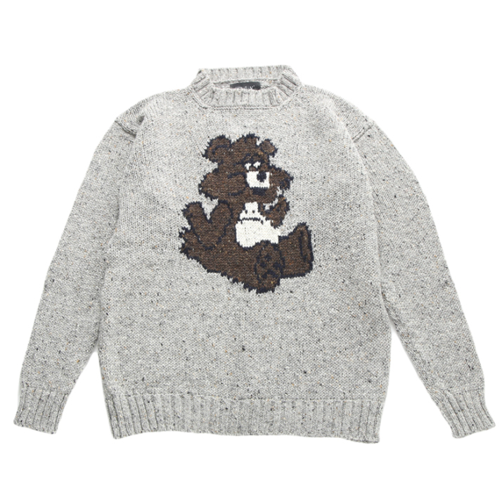 MOHAIR BEAR KNIT GREY U5HMI6KT001-GY