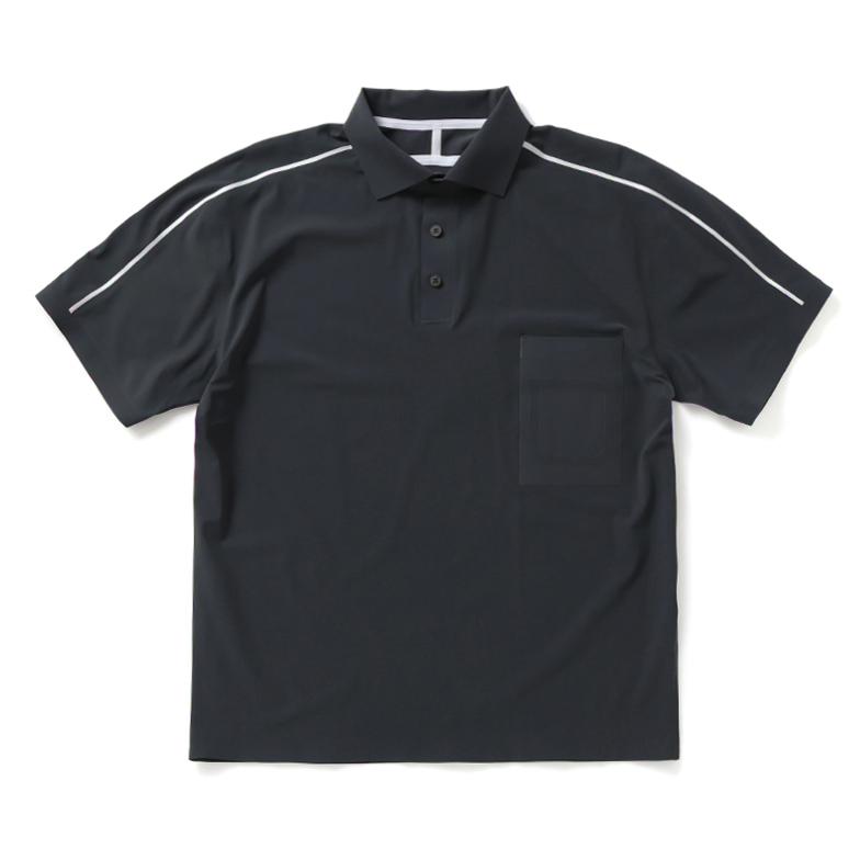 ULTRASOUND TAPED S/S POLO SHRIT U5GRJ5TS001-GY