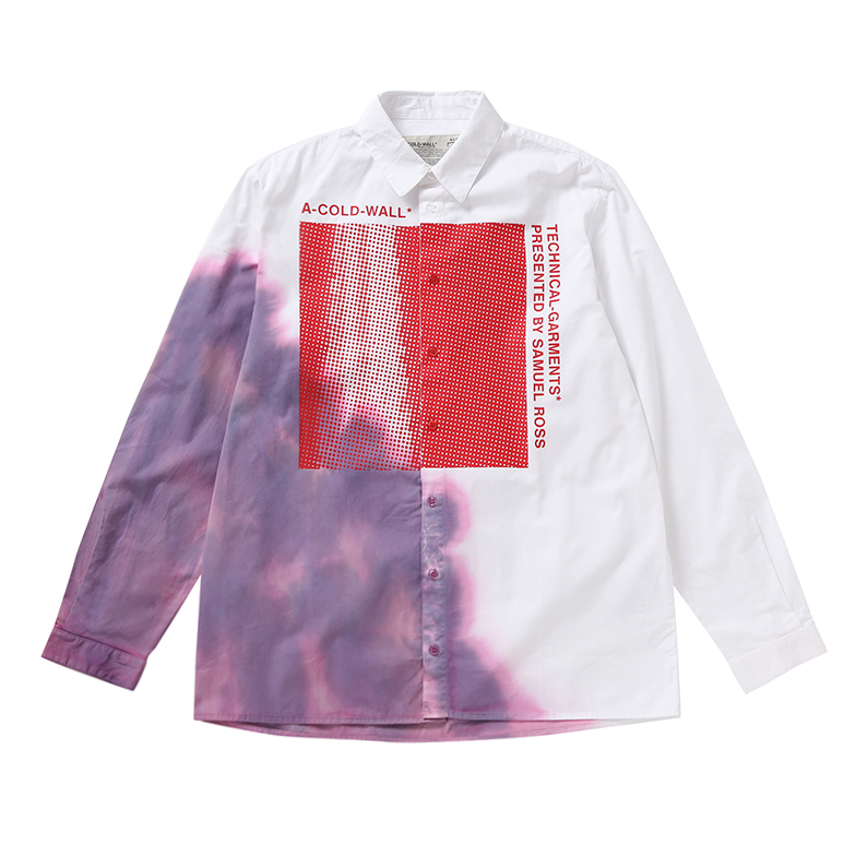 BRUISED SHIRT WITH GRAPHIC U5CWJ6ST002-WH