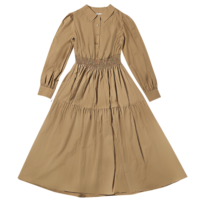 COLLARED DRESS (BEIGE)