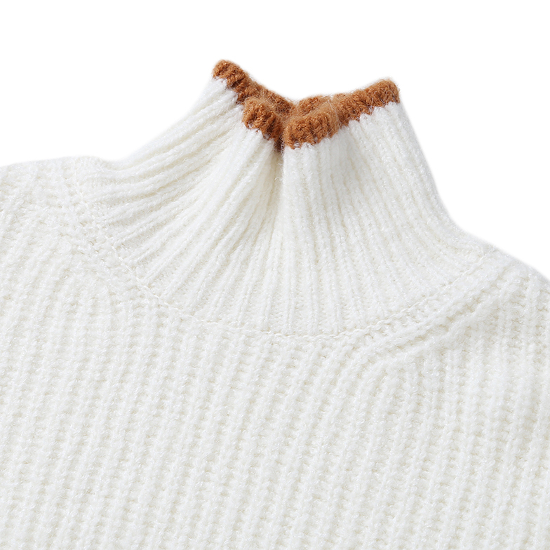 OVER-FIT TURTLE NECK KNIT (IVORY)