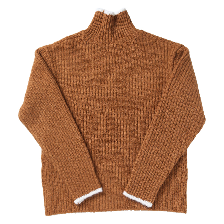 OVER-FIT TURTLE NECK KNIT (BROWN)