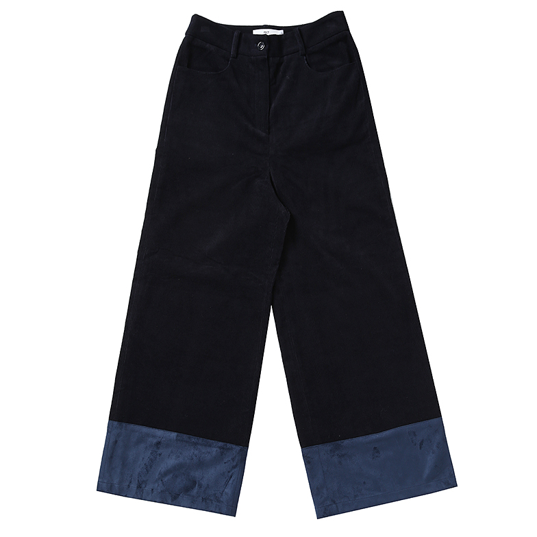 BABY CORDUROY WIDE LEG PANTS (NAVY)