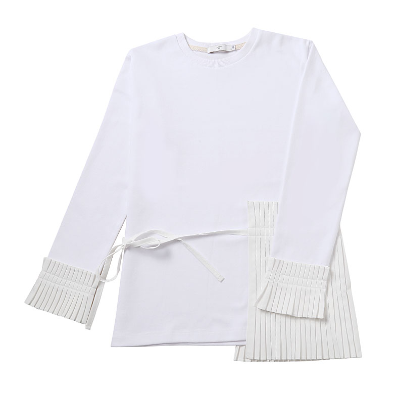 PLEATS DETAILED TOP (WHITE)