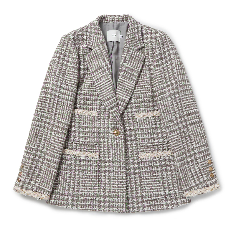 TWEED JACKET (KHAKI)