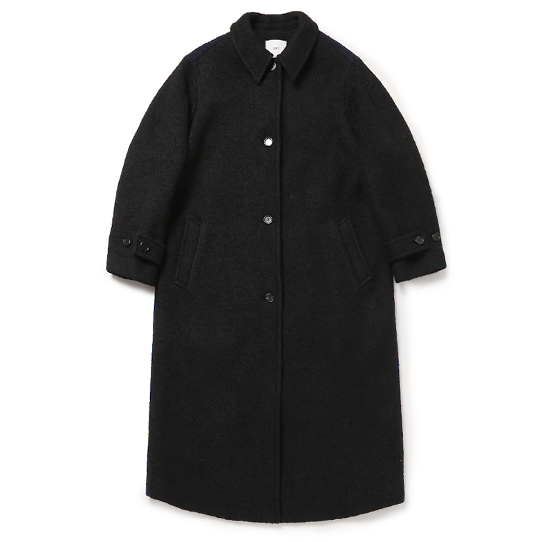 WOOL MAC COAT (BLACK)
