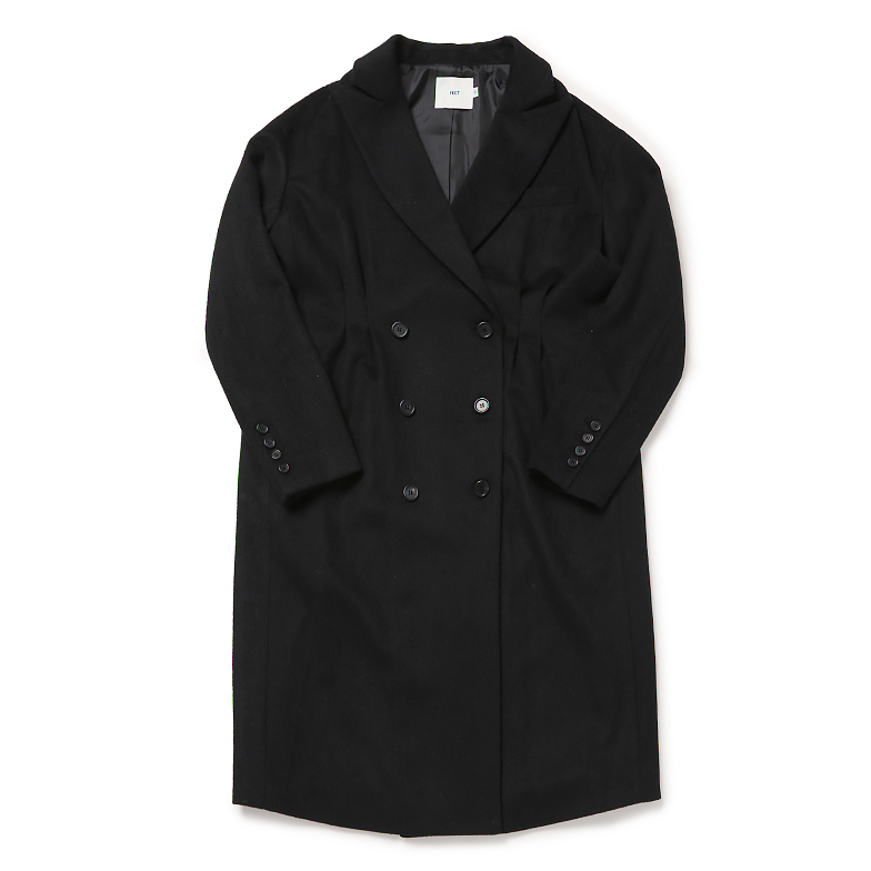 BASIC WOOL BLENDED COAT (BLACK)