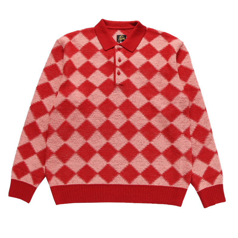 POLO SWEATER - CHECKERED RED U5NDJ6KT001-RD